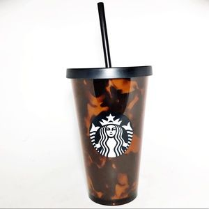 Starbucks Tortoise Shell Tumbler Cup 16oz New